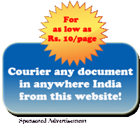 Courier any document on this site to anywhere in India!